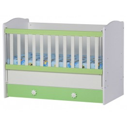 Baby Bed with One Drawer and Movable Grid Kalina