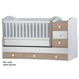 Baby Bed with a Movable Grid and a Swing Mechanism Desy Maxi