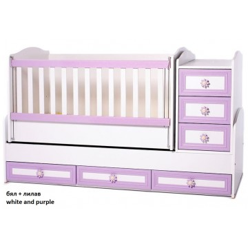 Baby Bed with a Swing Mechanism and MDF Decoration Elena