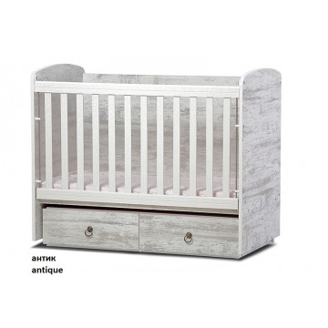 Baby Convertible Colour Combinations Bed Toni with Movable Grid 60cm/120cm
