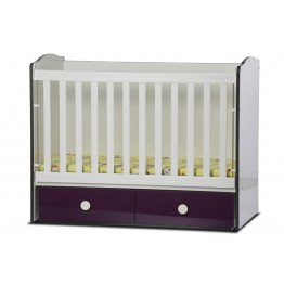 Baby Convertible Colour Combinations Bed Toni- Gloss with Movable Grid