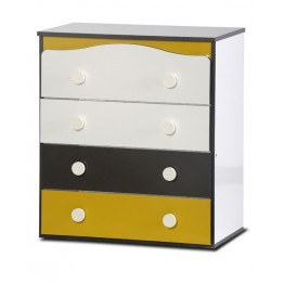 Baby Dresser with Four Drawers Gloss