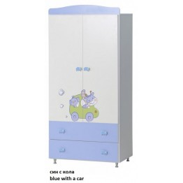 Baby and Child Clothes Colour Variations Wardrobe with Decoration