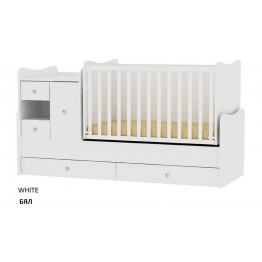 Baby Bed with a Swing Mechanism and a Dresser Lorelli MiniMax