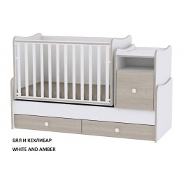 Luxury Convertible 3in1 Baby Bed Lorelli Trend Plus in Various Colours