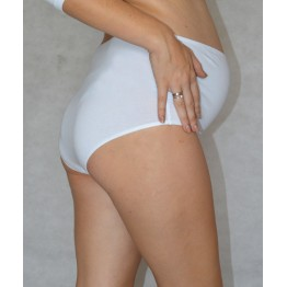 Maternity White Overbump Briefs- BG