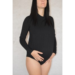 Maternity Black High Neck Body Lingerie