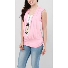 Maternity Light Pink Imitating Two Part Top