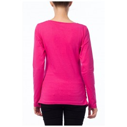 Maternity Long Sleeve Cyclamen Zipped Baby Stamp Shirt