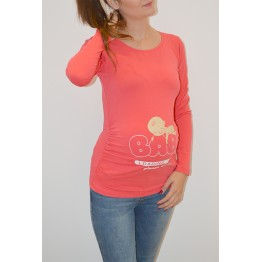 Maternity Watermelon Long Sleeve Baby Loading Stamp Shirt