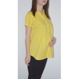 Maternity Yellow Short Sleeve Shirt