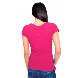 Maternity Cyclamen Short Sleeve Peep Baby Stamp Shirt
