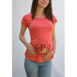Maternity Watermelon Daddy`s Girl Stamp Shirt