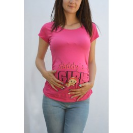 Maternity Cyclamen Daddy`s Girl Stamp Shirt