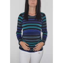 Maternity Dark Stripes Soft Fabric Shirt