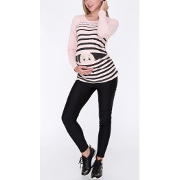 Maternity Banana Long Sleeve Peep Baby Stamp Shirt