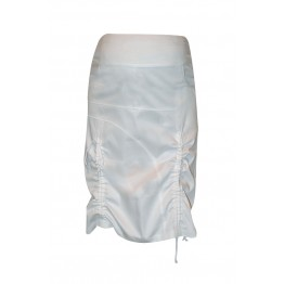 Maternity Knee Long White Overbump Skirt