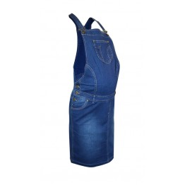 Maternity Jeans Pinafore Dress