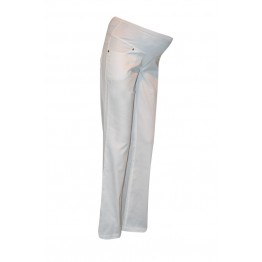 Maternity White Full Length Trousers