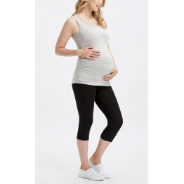 Maternity Black Underknee Cotton Leggings