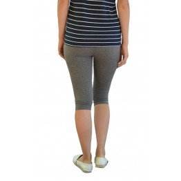 Maternity Grey Underknee Overbump Leggings