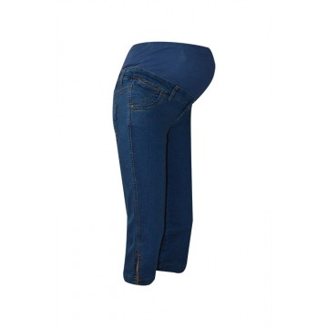 Maternity Blue Authentic Overbump Underknee Soft Jeans
