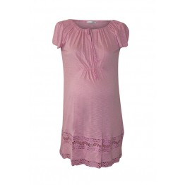 Maternity Light Pink Short Sleeve Extra Mini Tunic Dress