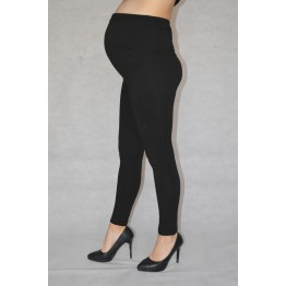 Maternity Black Full Length Light Fabric Leggings