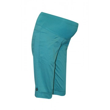 Maternity Turquoise Knee Long Shorts