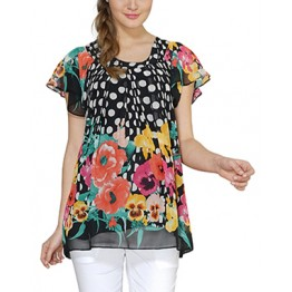 Maternity Black Floral Print Short Sleeve Top