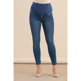 Maternity Dark Denim Jeans with Zippers