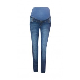 Maternity Dark Blue Full Length Skinny Jeans