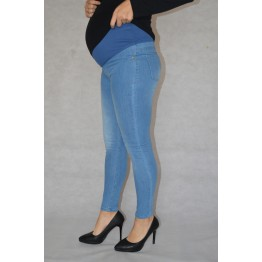 Maternity Blue Overbump Jeans