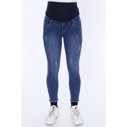 Maternity Blue Stretchy Full Length Jeans