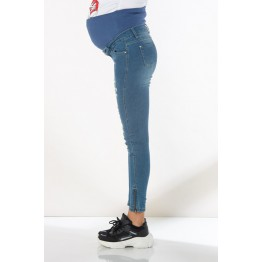 Maternity Blue Full Length Skinny Jeans