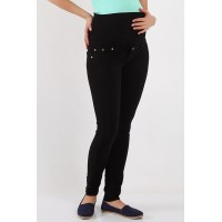 Maternity Black Back Pocket Skinny Jeans