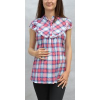 Maternity Fresh Colour Squares Shirt