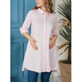 Maternity Pink Long Sleeve V-neck Top