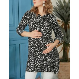 Maternity White and Dark Shapes Shirt