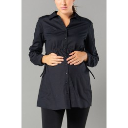 Maternity Black Long Sleeve Shirt