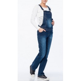 Maternity Denim Front Pocket Jumpsuit