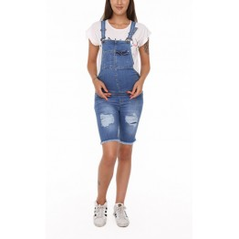Maternity Light Denim Jumpsuit