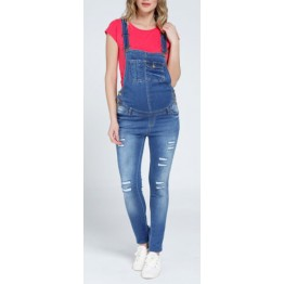 Maternity Patches Denim Jumpsuit