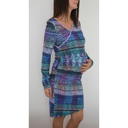 Maternity Purple Soft V-Neck Dress