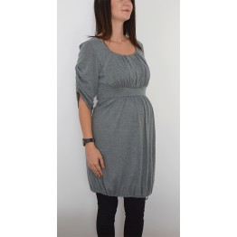 Maternity Long Sleeve Balloon Single Piece Dress