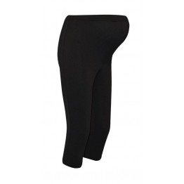 Maternity Black Glossy Underknee Leggings
