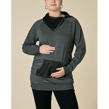 Maternity Black Front Pocket Shirt