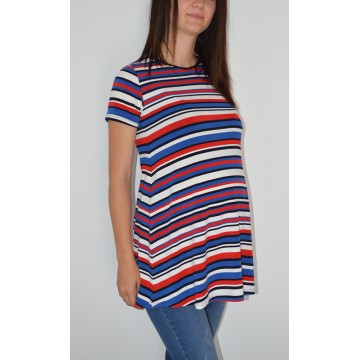 Maternity Colourful Print Short Sleeve Maternity Top