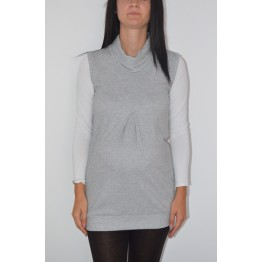 Maternity Grey Coloured Knitted Tunic Top
