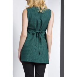 Maternity Dark Green and Black Stylish Tunic Top